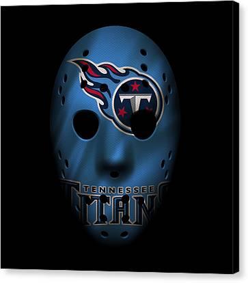 Tennessee Titans War Mask Canvas Print