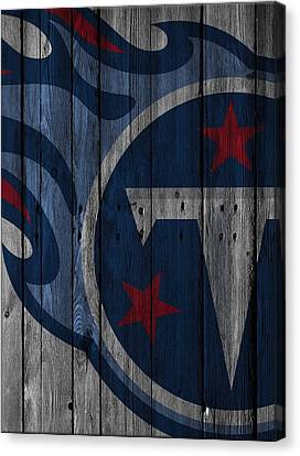 Tennessee Titans Wood Fence Canvas Print by Joe Hamilton