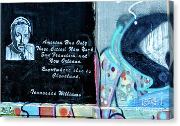 Canvas Print - Tennessee Williams Graffiti Wall- Nola by Kathleen K Parker