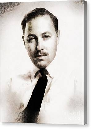 Famous Literature Canvas Print - Tennessee Williams, Literary Legend by John Springfield