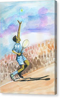 Tennis 02 Canvas Print by Emmanuel Baliyanga