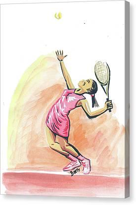 Tennis 03 Canvas Print by Emmanuel Baliyanga