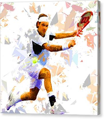 Canvas Print featuring the painting Tennis 114 by Movie Poster Prints