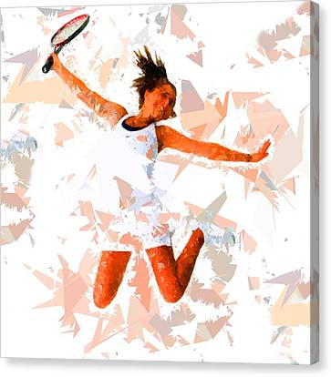 Canvas Print featuring the painting Tennis 115 by Movie Poster Prints