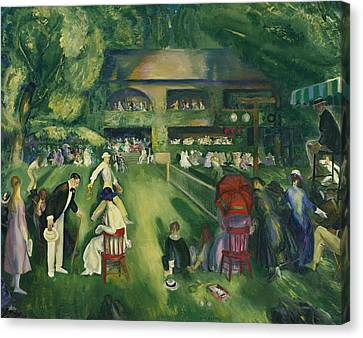 Women Tennis Canvas Print - Tennis At Newport by George Bellows