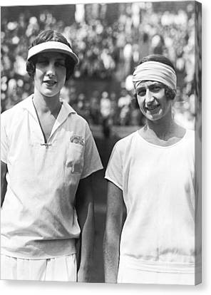 Tennis Champion Helen Wills Canvas Print by Underwood Archives