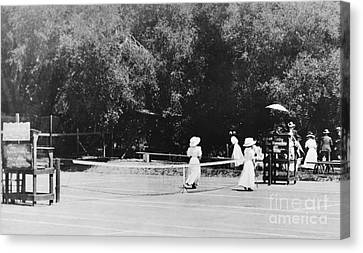 Tennis Champions Sutton And Hotchkiss Canvas Print by Omikron
