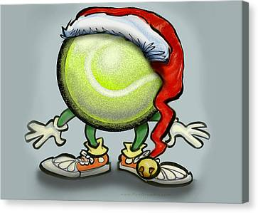 Tennis Christmas Canvas Print by Kevin Middleton