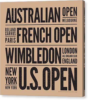 Tennis Grand Slams Canvas Print