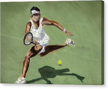Tennis In The Sun Canvas Print by Paul Mitchell