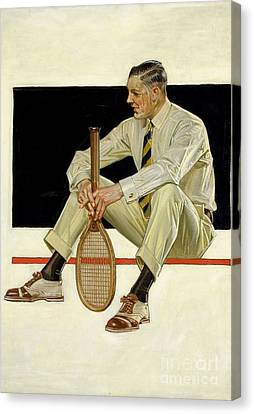 Tennis Player Canvas Print by MotionAge Designs