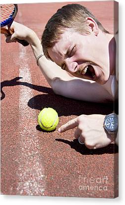 Tennis Player Tantrum Canvas Print
