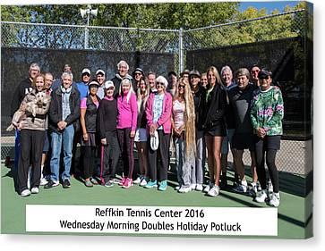 Canvas Print featuring the photograph Tennis Potluck Group Shot by Dan McManus
