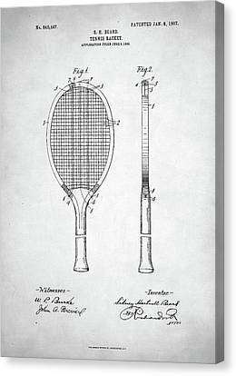 Tennis Racket Patent 1907 Canvas Print by Taylan Apukovska