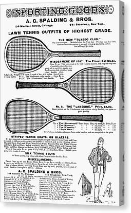 Tennis Rackets, 1887 Canvas Print by Granger