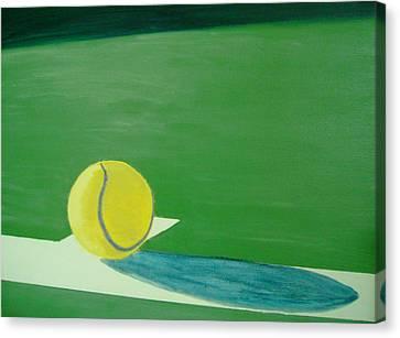 Tennis Reflections Canvas Print by Ken Pursley