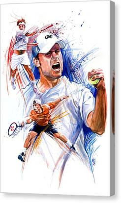 Tennis Snapshot Canvas Print by Ken Meyer