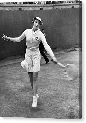 Tennis Star Katherine Stammers Canvas Print by Underwood Archives