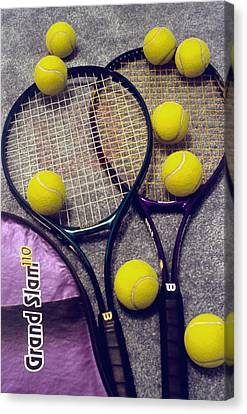Tennis Still Life 2 Canvas Print by Steve Ohlsen