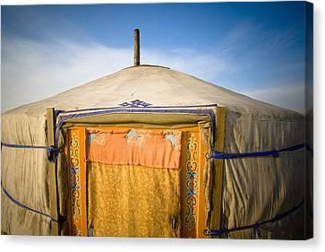 Tent In The Desert Ulaanbaatar, Mongolia Canvas Print by David DuChemin