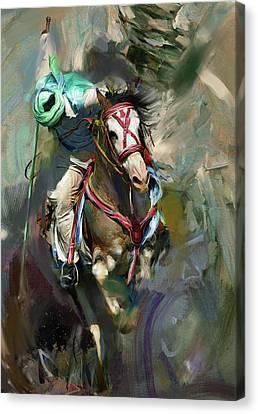 Tent Pegging 184 IIi Canvas Print by Mawra Tahreem