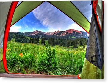 Tent View Canvas Print by Scott Mahon