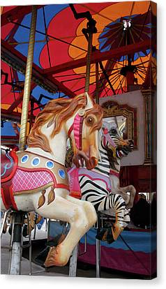 Tented Carousel Canvas Print