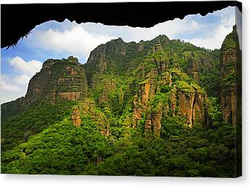 Tepozteco Canvas Print by Skip Hunt