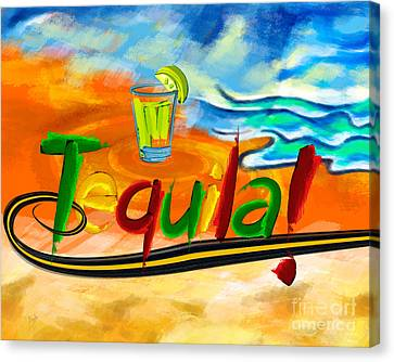 Tequila Canvas Print by Bedros Awak