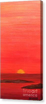 Tequila Sunrise Canvas Print by Lori Jacobus-Crawford