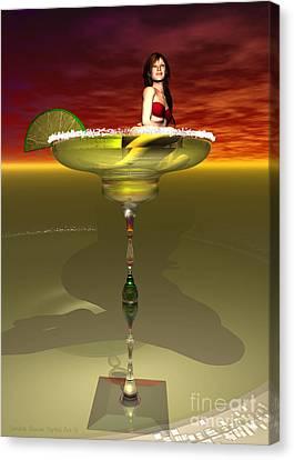 Tequila Sunrise Canvas Print by Sandra Bauser Digital Art