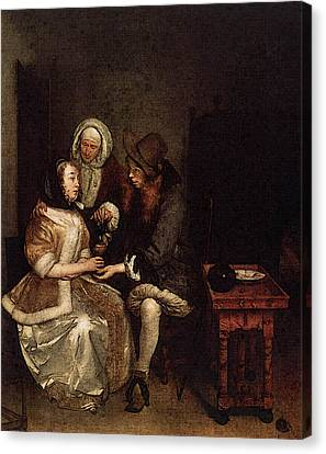 Terborch Gerard The Glass Of Lemonade Canvas Print by Gerard ter Borch