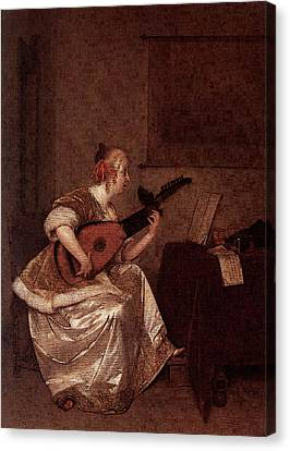 Terborch Gerard The Lute Player  Canvas Print by Gerard ter Borch
