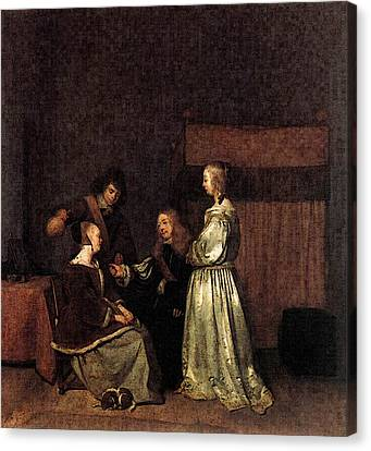 Terborch Gerard The Visit Canvas Print by Gerard ter Borch