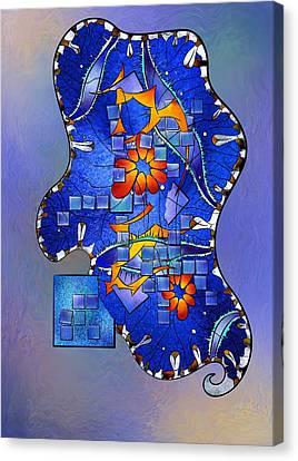 Tercaro Diara V2 - Digital Abstract Canvas Print