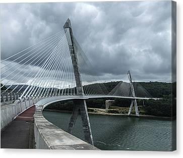 Terenez Bridge I Canvas Print by Helen Northcott