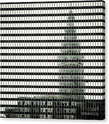 Terminal Tower Refelection Canvas Print by Peter Tompkins