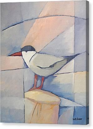 Tern On Bollard Canvas Print