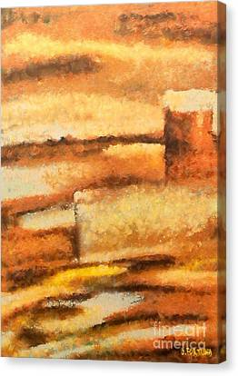 Canvas Print featuring the mixed media Terra Rossa by Dragica  Micki Fortuna