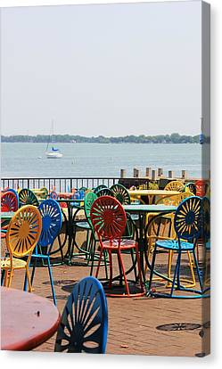 Union Terrace Canvas Print - Terrace Chairs by Douglas Ransom