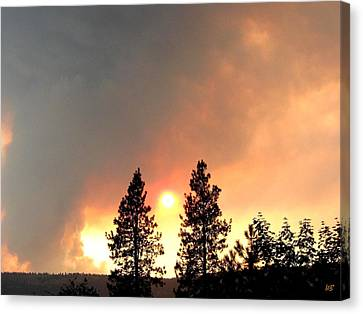 Terrace Mountain Fire 2  Canvas Print by Will Borden