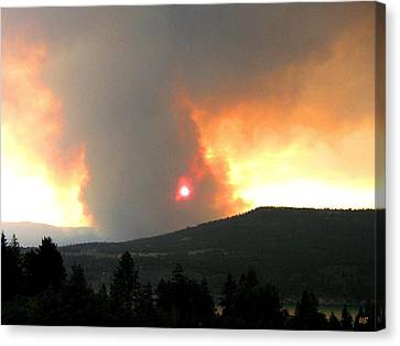 Terrace Mountain Fire 3  Canvas Print by Will Borden