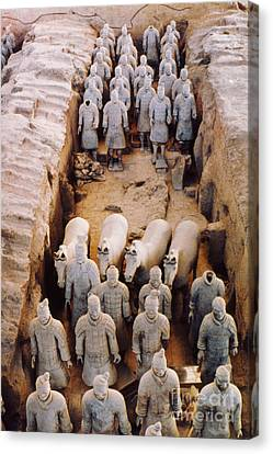 Terracotta Army Canvas Print by Heiko Koehrer-Wagner