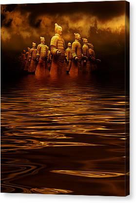 Terracotta Army Canvas Print by Heinz Dieter Falkenstein