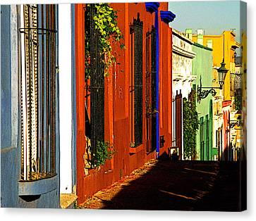 Terracotta House On The Hill Canvas Print by Mexicolors Art Photography