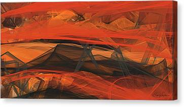 Terracotta Orange Modern Abstract Art Canvas Print by Lourry Legarde