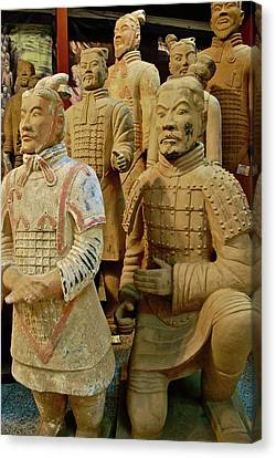 Tomb Canvas Print - Terracotta Warriors by Dorota Nowak