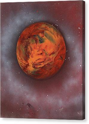 Terrestrial Sphere Canvas Print - Terraform by Jason Girard