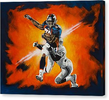 Terrell Davis II Canvas Print by Don Medina