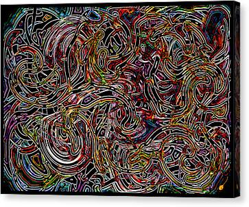 Terrible Beautiful Tangle Canvas Print by Mathilde Vhargon